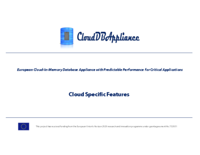 Cloud Specific Features Presentation